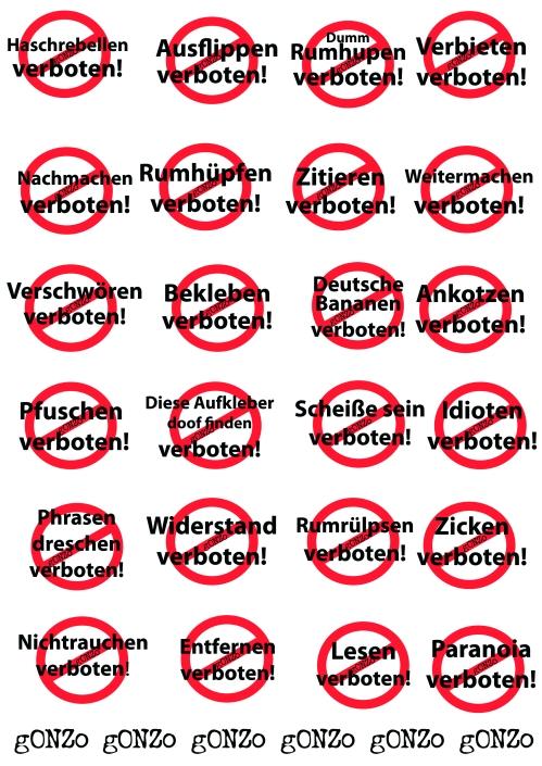 Verboten Schilder (1)