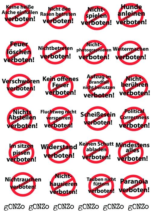 Verboten Schilder (2)